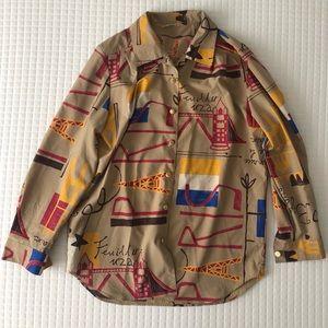 Vintage Paris Button Down Shirt